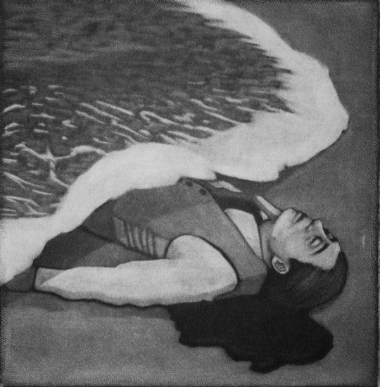 Sleep with the fishes10x10cm / mezzotint / 2020