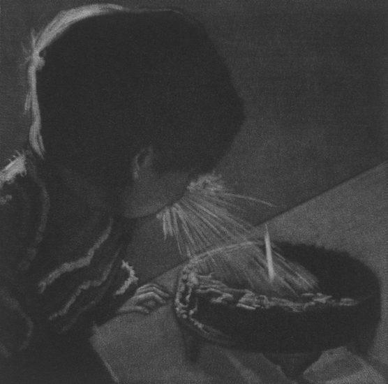 Who wants cake, 10x10cm, mezzotint, 2021
