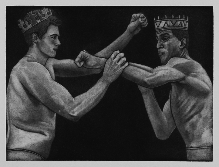 An alternative to the battle of Agincourt 1415 15x20cm / mezzotint / 2019