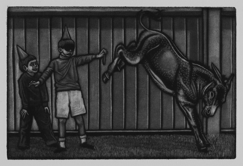 What a surprise 10x15cm / mezzotint / 2019