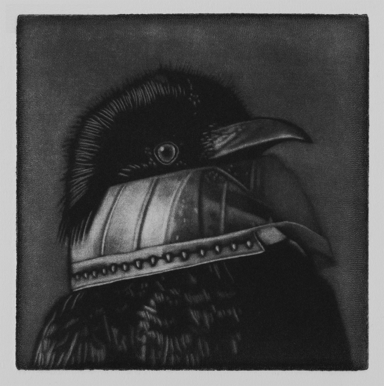 I got this room lit up so brightly but I can´t see shit 10x10cm / mezzotint / 2019