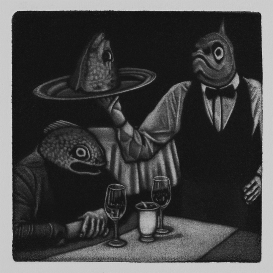 Some hungers are best denied 10x10cm / mezzotint / 2019