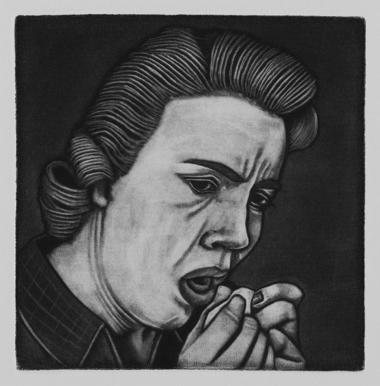 The death of decency 10x10cm / mezzotint / 2019